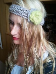 Headband fleur anis