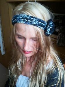 headband noir chiné