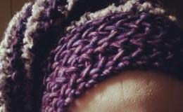 Bonnet violet gris